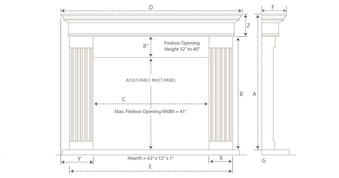 Adams Builder Series Stone Fireplace Mantel