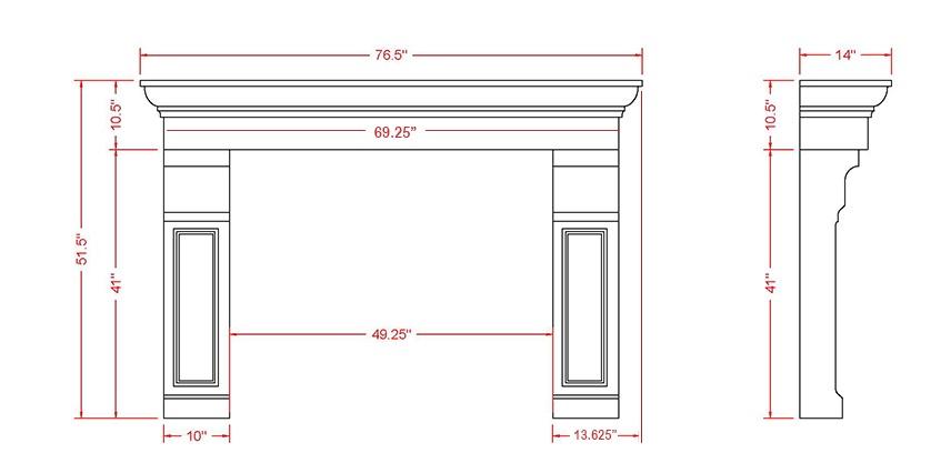 Belford Classic Series Stone Fireplace Mantel
