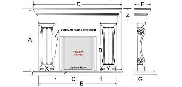 Belmont Majestic Series Stone Fireplace Mantel