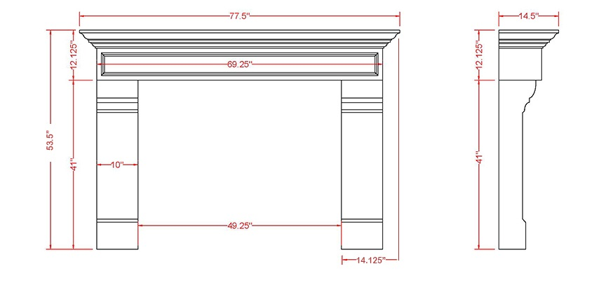 Dover Classic Series Stone Fireplace Mantel
