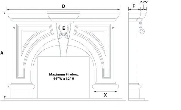 Ramsey Majestic Series Stone Fireplace Mantel