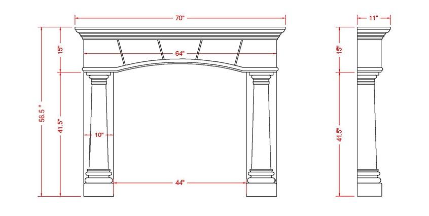 Barrington Classic Series Stone Fireplace Mantel