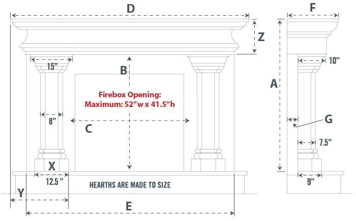 Umbria Majestic Series Stone Fireplace Mantel